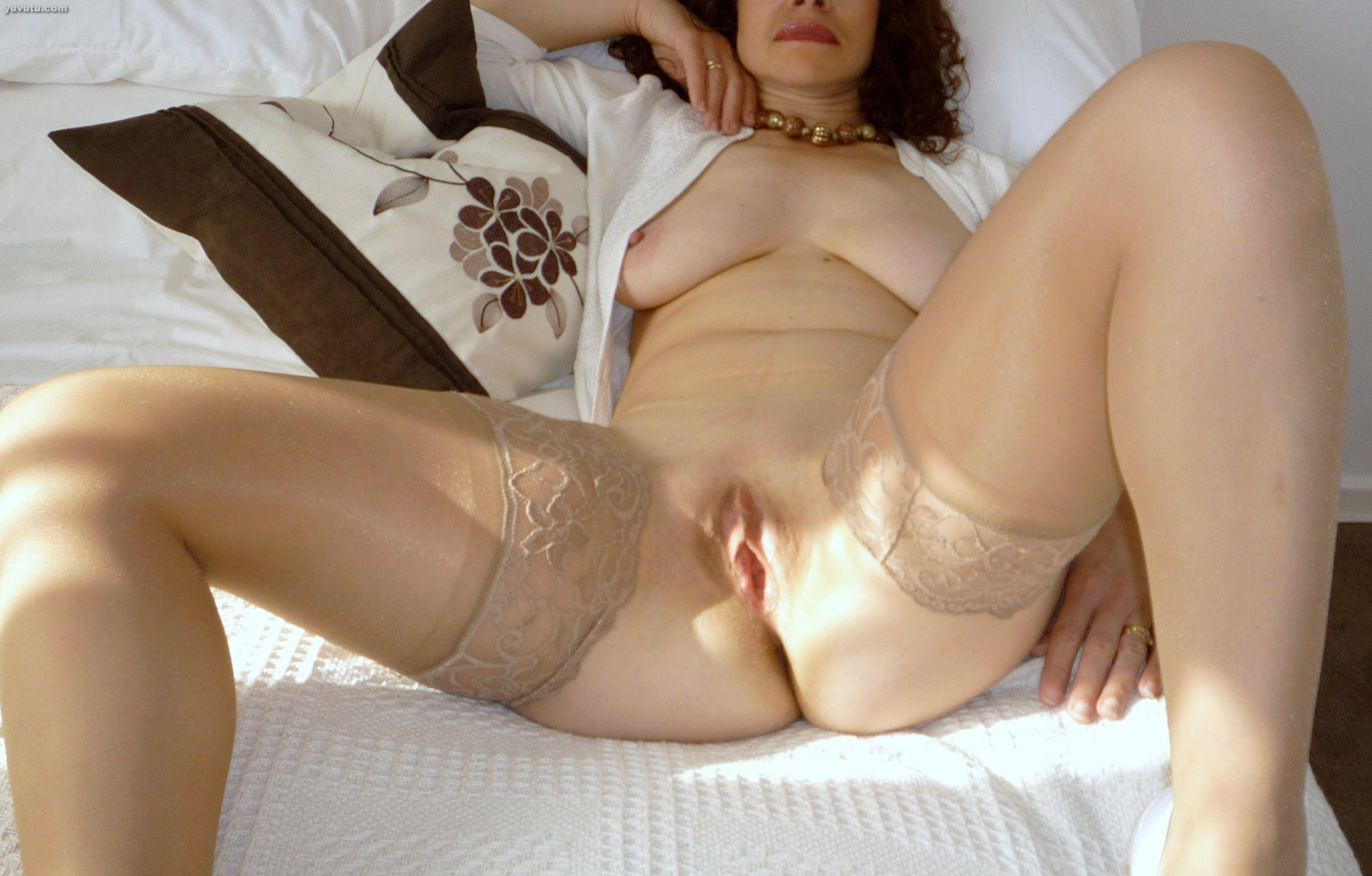 Amateur pantyhose tube