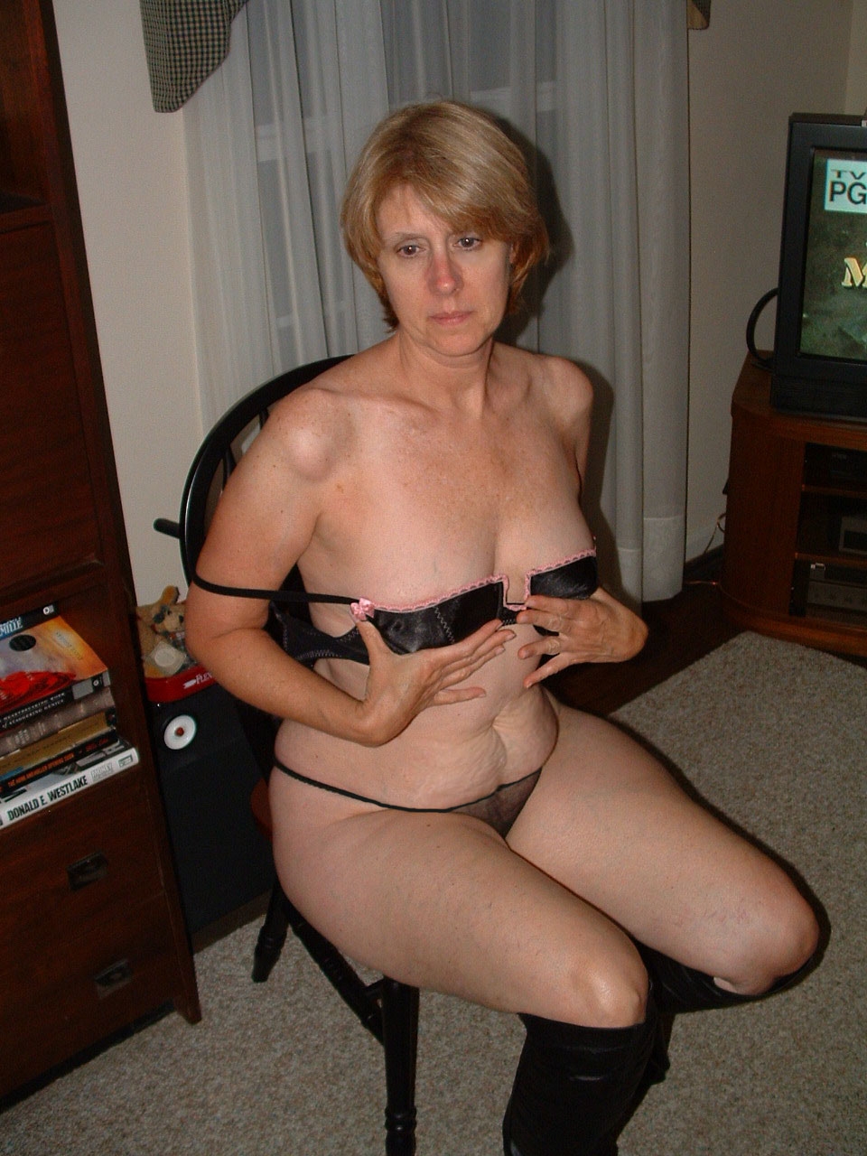 Homemade lingerie wife