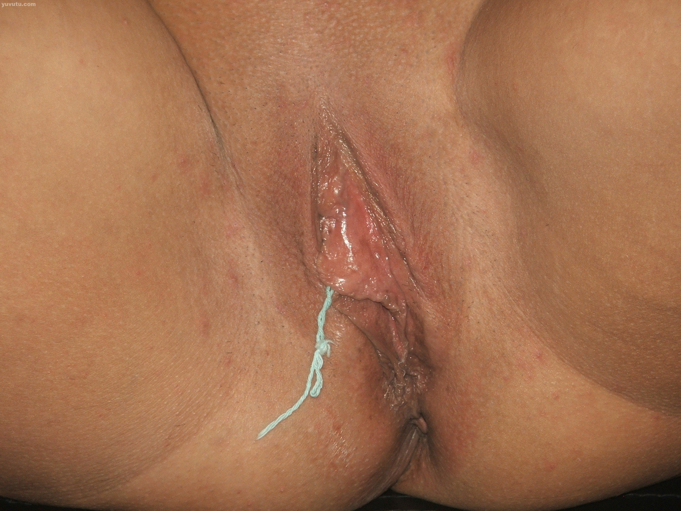 Close up pussy wet the top the