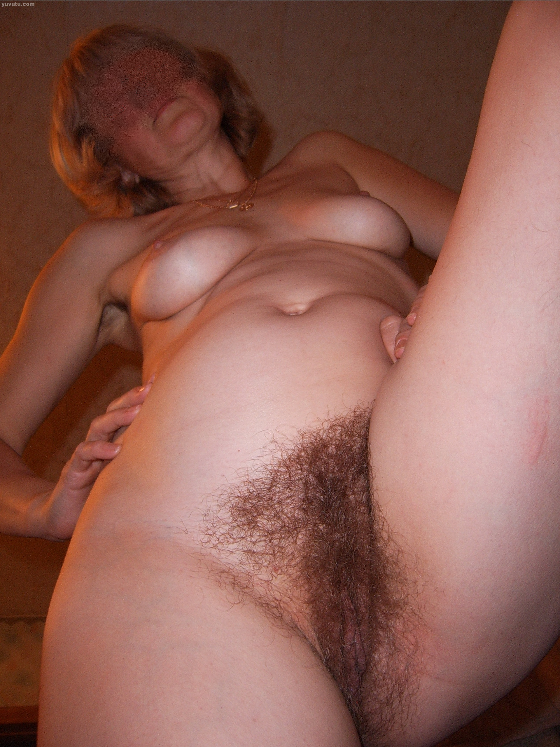 Hairy mature home video