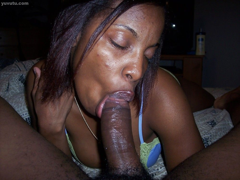 Young black girl deepthroat