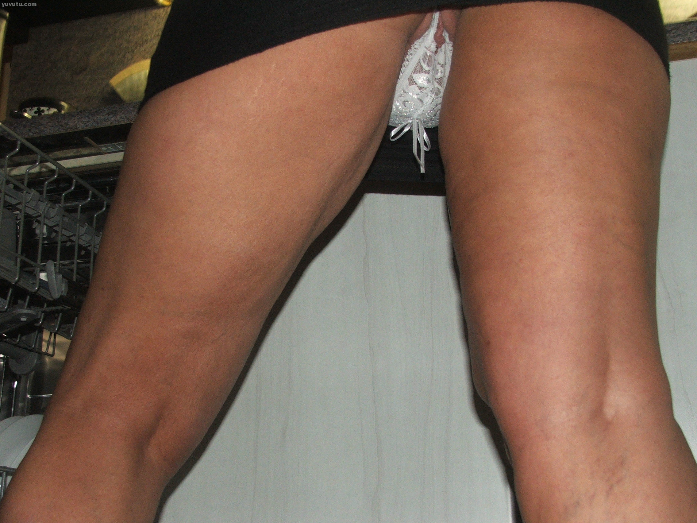 upskirt crocthless upskirt black dress crotchless white panty
