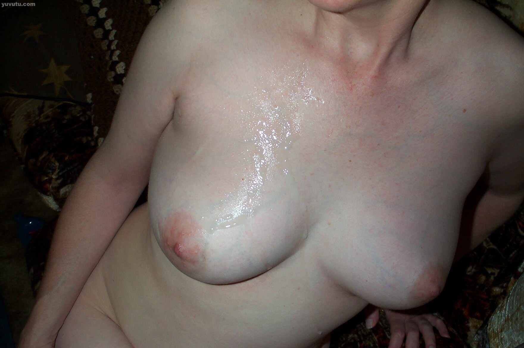 Cum over my breast