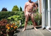 enjoying the hot sunshine naked