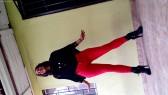 Modelando Jeans Rojos 4
