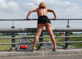 Summer flashing in public