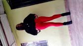 Modelando Jeans Rojos 2