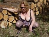 my wife posing outdoor