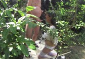Garden piss and cum again part 2