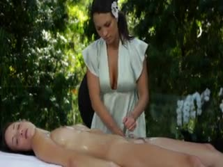 Lesbian Sex - Lily Love and Malena Morgan sensual massage and ...