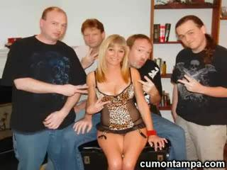 Blow Job - Blonde Girl Gangbanged