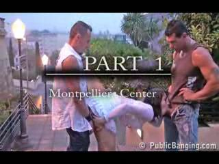 Exhibe - Extreme Public Street Threesome PART 1
