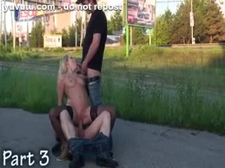 Flashing/Public - EXTREME PUBLIC sex GANGBANG Part 3