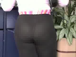 Préliminaires - 198 lbs wife Sherry in see through pants