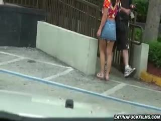 Latina - Car Spycam Catches Latina Getting Naughty