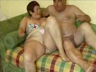 Mature exhibitionist couple enjoying mutual masturbating