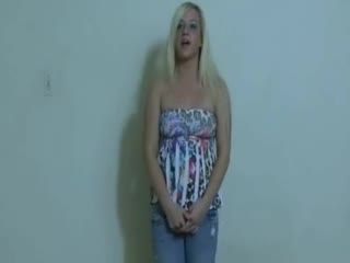 Faciale - Real amateur blonde hottie receives a messy faci...