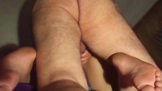 - Doggy fucking GF and cum