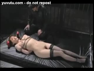 Asian - Asian Tied In Stockings Whipped And Hot Waxed