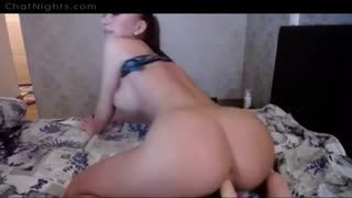 Godemiché - Hot and horny ***** riding dildo while chatting ...