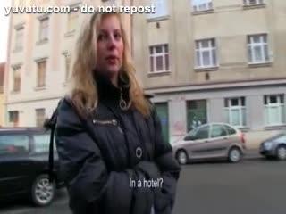 Flashing/Public - Hot amateur blondie Czech girl Maya Angel pounde...