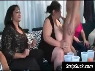 Orgia/A quattro - Girls share stripper's black penis