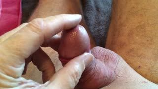 Missionarsstellung - Playing with my pre cum tasted nice