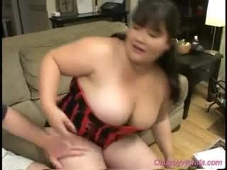 BBW/Chubby - Chubby babe gets fucked hard