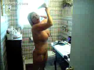 Mature - Blow drying my hair--nude