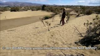 Flashing/Public - Hard Cock Stranger in the Dunes with Wife