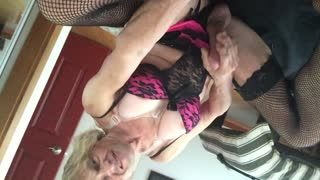 Female Masturbation - Gay Tranny Faggot Cums