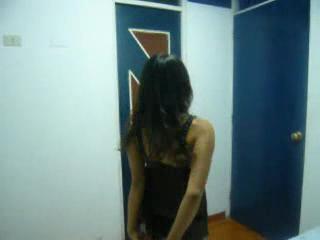 Latina - lenceria negra de mi novia