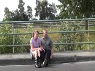 Exhibe - Blowjob in public by a highway. COOL!!