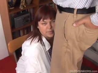 Mature - Big tits mature BBW loves to suck cock