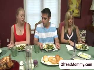 Threesome - Sexy mature stepmom Kristal Summer has a threeso...