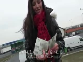 Flashing/Public - Eurobabe fucked and jizzed on with horny strange...