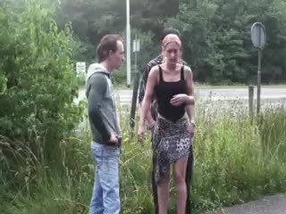 Exhibe - Public - public sex threesome by a highway