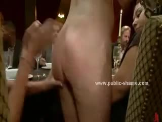 - Blonde whore is served to pervert dinner with lo...
