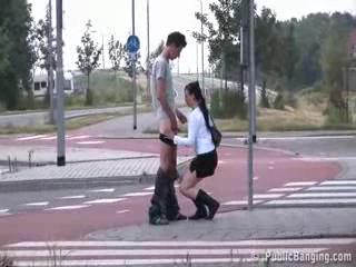 Exhibe - Public blowjob at a crosswalk