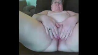 Female Masturbation - 80 y-o Granny Cyberfriend on cam