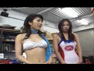 Asian - Japanese Model fucking in her racequeen uniform ...