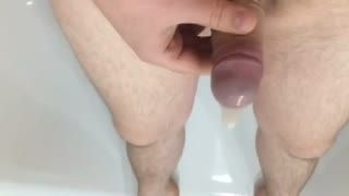 Fetish - Filling a condom with pee and cum