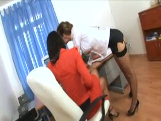 Threesome - Secretary office threesome