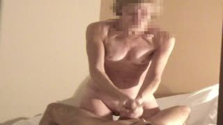 - my wife gives handjob and is taken from behind