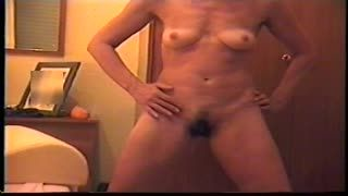 Female Masturbation - bedrom strip and masturbate