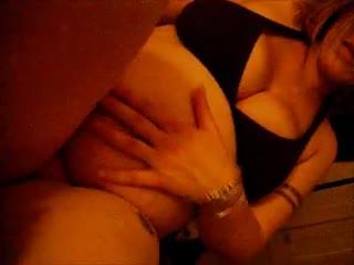 Pregnant - big tittied preggo stripping