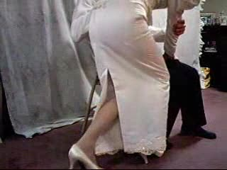 BDSM - Wedding Dress Spanking