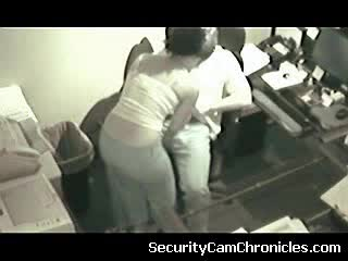 Threesome - sex on security camera