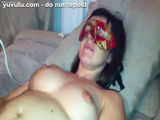 Latina - Loveliness masked colombian brunette is taken on...