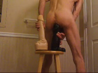 Bizzare - Double Ass Fuck with Huge Cock Dildos